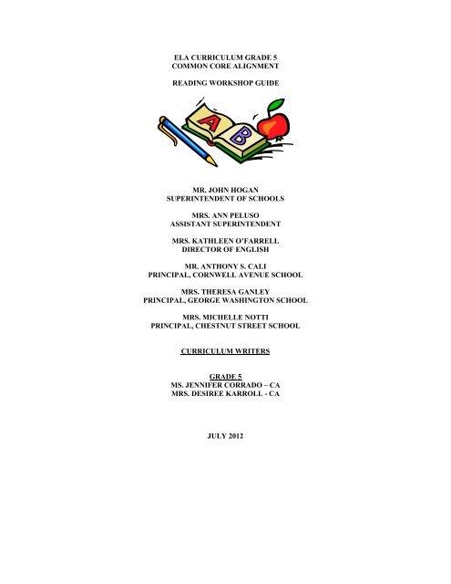 ELA READING GRADE 5 CURRICULUM 2012 _Draft as of 3-1-13