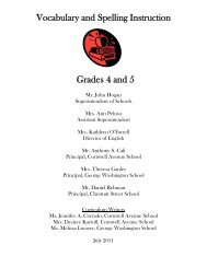 Vocabulary and Spelling Instruction Grades 4 and 5