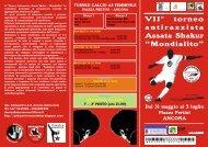 "antirazzista Assata Shakur ""Mondialito"" Torneo"