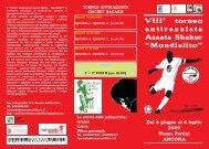 """VIII° torneo antirazzista Assata Shakur """"Mondialito"""""""