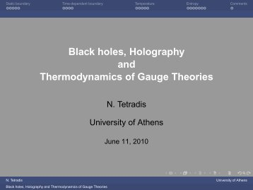 Black holes Holography and Thermodynamics of Gauge Theories