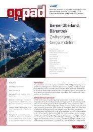 Berner Oberland, Bärentrek Zwitserland, bergwandelen - Anwb