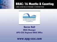 BRAC - Chesapeake Science and Security Corridor