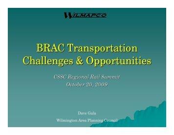 BRAC Transportation Challenges & Opportunities