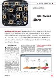 Bleifreies Löten - Ems-Chemie
