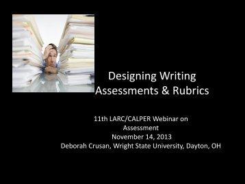 Designing Writing Assessments & Rubrics