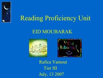Reading Proficiency Unit