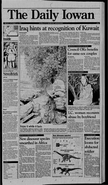 View - The Daily Iowan Historic Newspapers - The University of Iowa