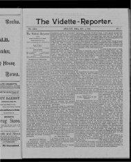 The Vidette RepofTtefT