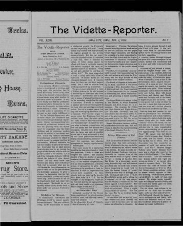 The Vidette RepofTtefT
