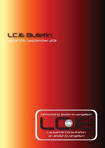 105 September 2011 - Lausanne Consultation on Jewish Evangelism