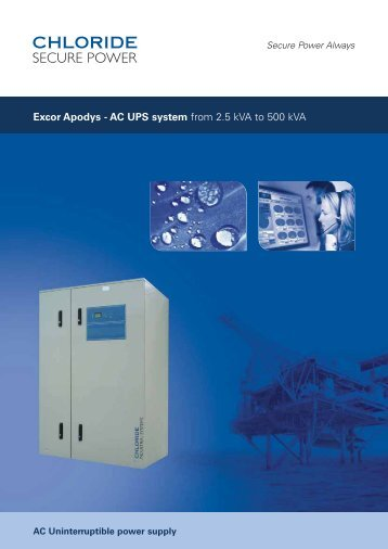 Excor Apodys - AC UPS system - Emerson Network Power
