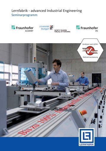 Anmeldung zum Seminar advanced Industrial Engineer