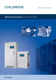 CROSS Chassis/Cabinet - Emerson Network Power