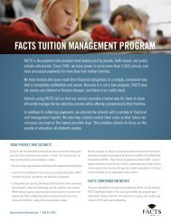 FACTS Tuition Management Program (PDF) - Miller School of ...