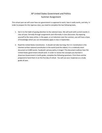 ap government homework help
