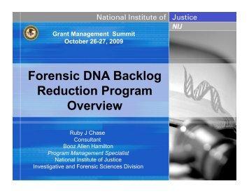 Forensic DNA Backlog Reduction Program Overview