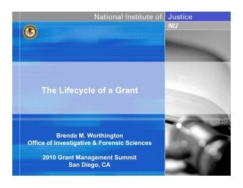 The Lifecycle of a Grant