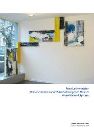 Rosa Lachenmeier, Architekturbezogene Malerei