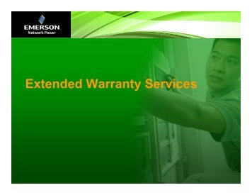 Presentation on Extended Warranty - Emerson Network Power