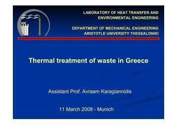 Thermal treatment of waste in Greece