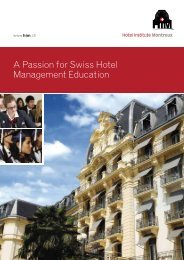 A Passion for Swiss Hotel Management Education
