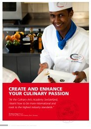 YOUR CULINARY PASSION