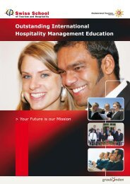 Outstanding International Hospitality Management Education