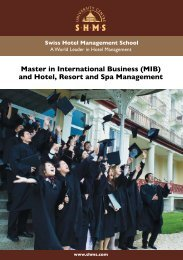 Master in International Business (MIB) and Hotel Resort and Spa Management