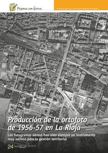 Producción de la ortofoto de 1956-57 en La Rioja