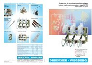 Driescher air-insulated medium voltage indoor switch-disconnectors ...