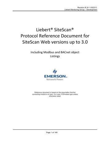 liebert intellislot modbus 485 modbus ip and bacnet ip rh yumpu com Trane Wiring Diagrams plc Wiring Diagrams