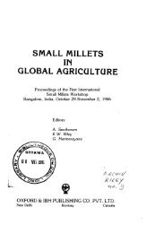 small millets in global agriculture - IDL-BNC @ IDRC - International ...