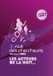 Les acteurs de la Nuit... - Ecole Nationale Supérieure de Chimie de ...