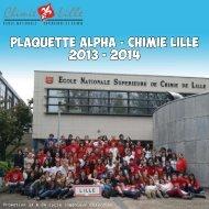 Plaquette ALPHA - CHIMIE LILLE 2013 - 2014