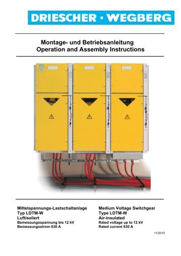 Montage- und Betriebsanleitung Operation and Assembly Instructions