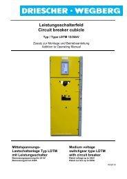 Leistungsschalterfeld Circuit breaker cubicle - Driescher • Wegberg