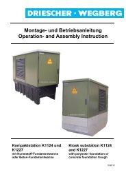 Montage- und Betriebsanleitung Operation - Driescher • Wegberg