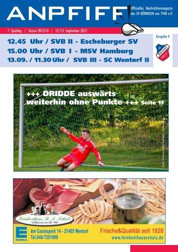 Anpfiff zum 7. Spieltag - Saison 2015/16