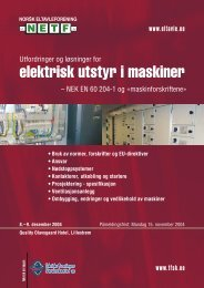elektrisk utstyr i maskiner