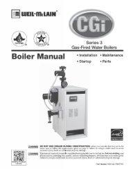 CGi Boiler Manual Series 3 - Weil-McLain