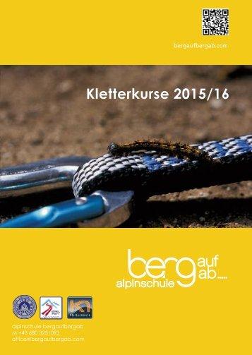 Kletterkurs Programm 2015_2016