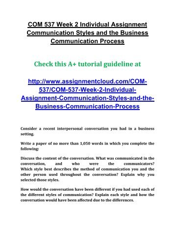thesis of business communication