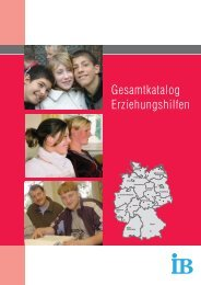 Gesamtkatalog Erziehungshilfen - Erziehungshilfen im IB
