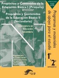 Propósitos y Contenidos de la Educación Básica II (Secundaria)
