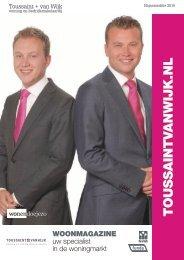 Toussaint + Van Wijk Woonmagazine #9, Najaarseditie