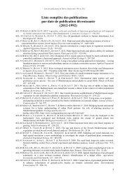 la liste de toutes les publications - IMEP