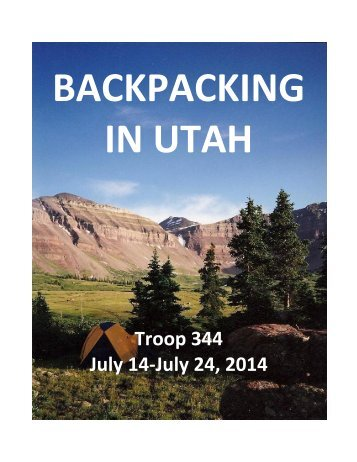 BACKPACKING IN UTAH