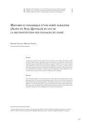 Histoire d'une (Alpes Sud Queyras) précision structure