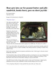 Bear Gets into Car for Peanut Butter Sandwich - Troop 344 Home